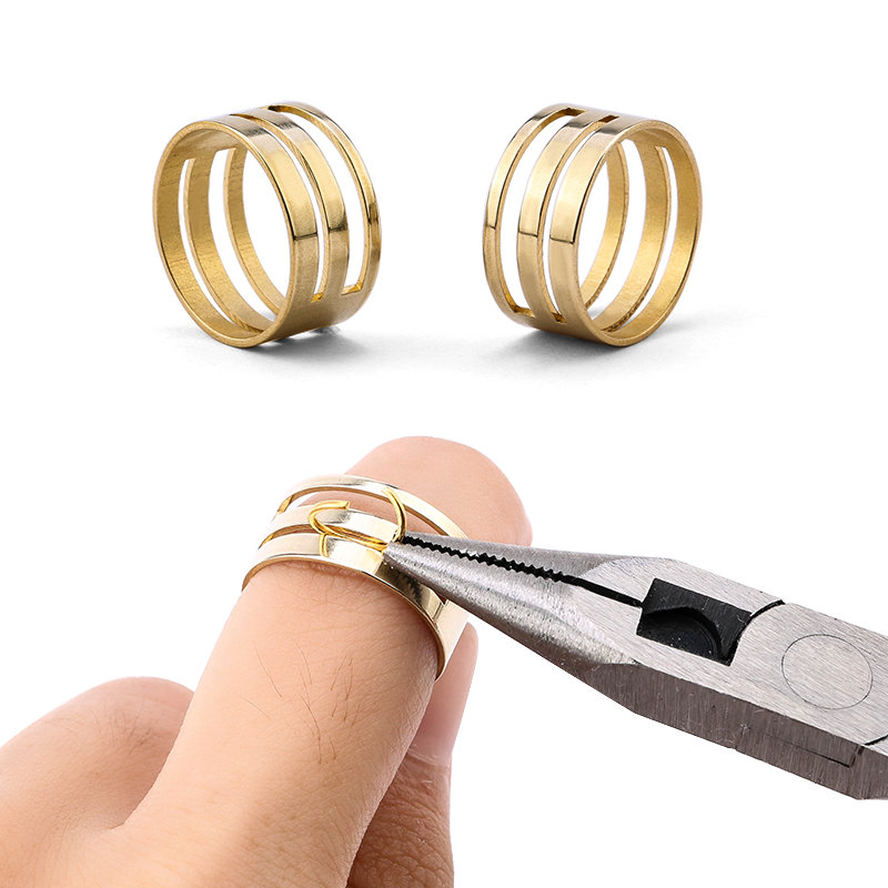 9x18mm Easy Open Jump Ring Tools Closing Finger Jewelry Tools Copper Jump Ring Opener For DIY Jewelry Making Jewelry Findings