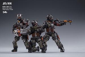 Image 5 - JOYTOY JT0173 Skeleton Forces Double Sickle SQUAD 1/18 Action Figure Set 3