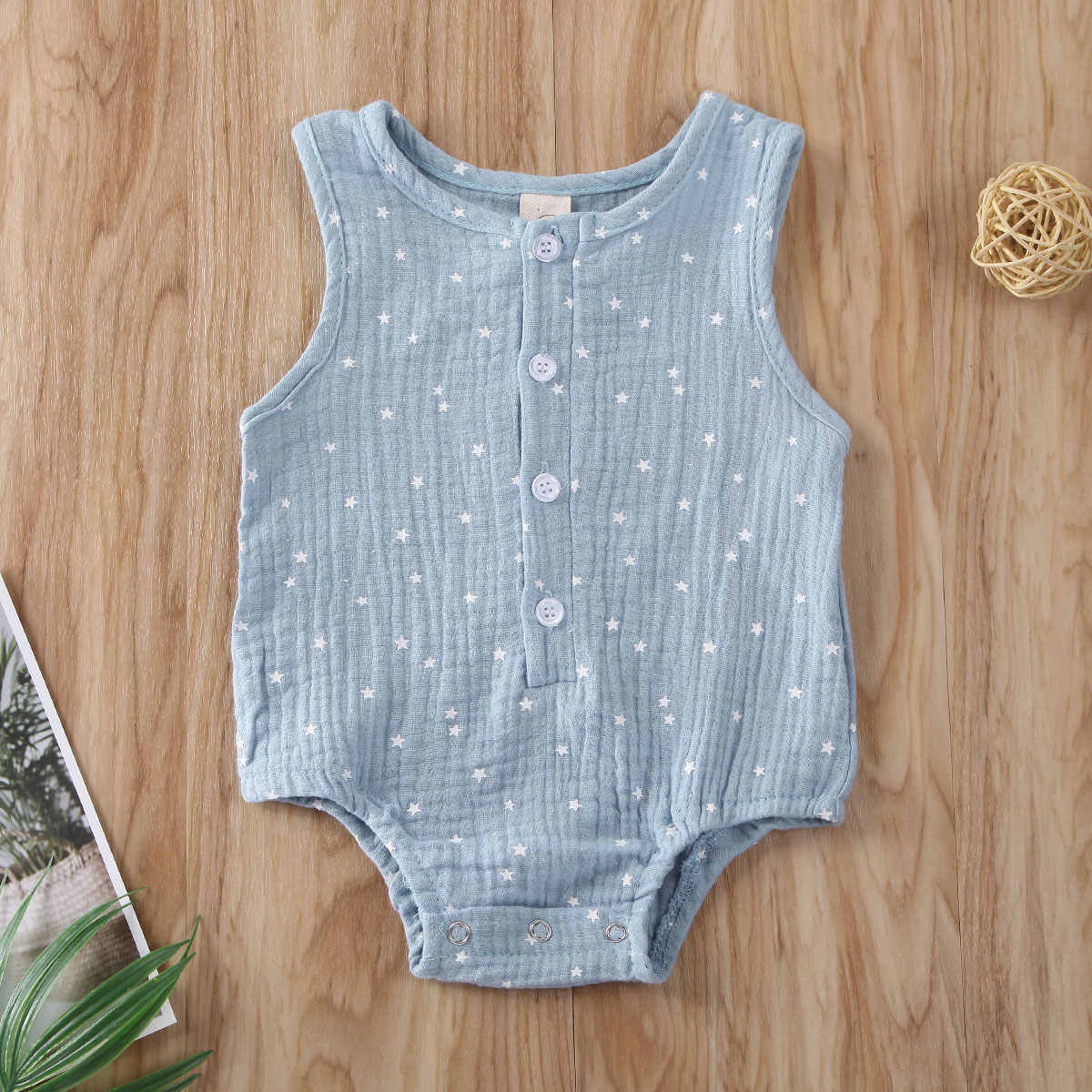 2020 Baby Summer Clothing Newborn Infant Baby Girls Boys Clothes Cotton Linen Jumpsuit Bodysuit Sleeveless Outfit 0-12M