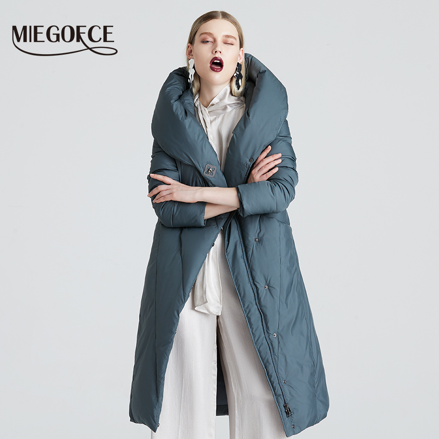 MIEGOFCE 2019 Winter Long Model Women's Jacket Coat Warm Fashion Women Parkas High-Quality Bio-Down Women Coat Brand New Design