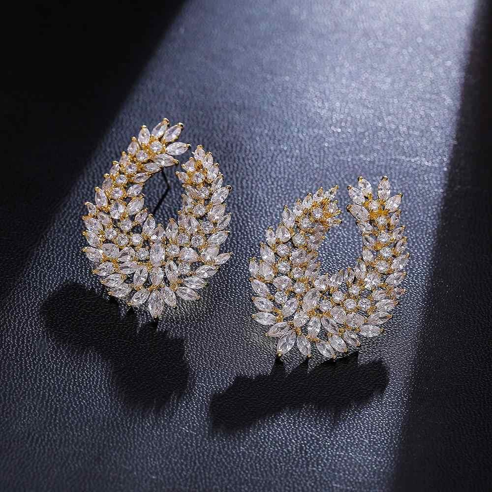 A318 מפורסם למעלה זירקון עגיל לנשים/ילדה, brincos עיצוב יוקרה micro pave מעוקב Zirconia stud עגילי תכשיטים