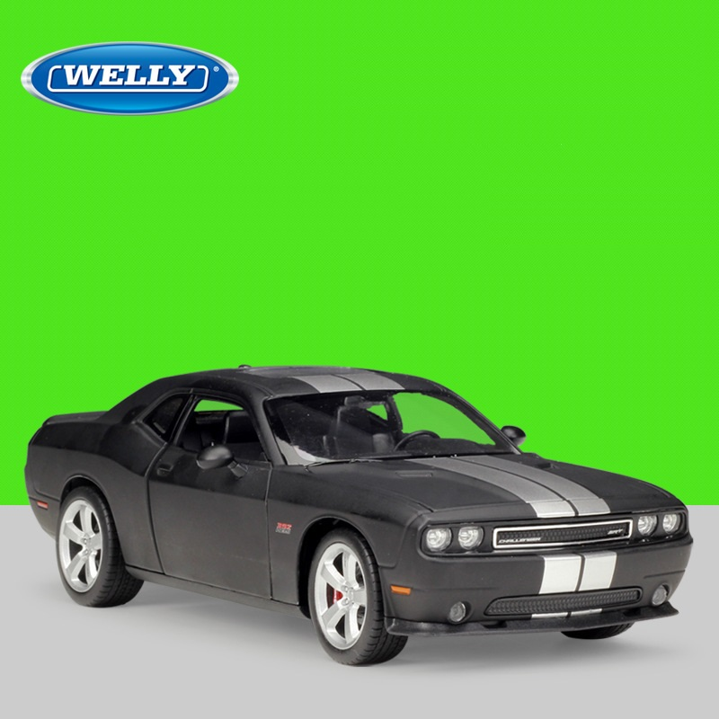 1:24 Welly Alloy Models Car For Dodge Challenger SRT 2012 Diecast Model Car Kids Toys Christmas Gift Adult Collection