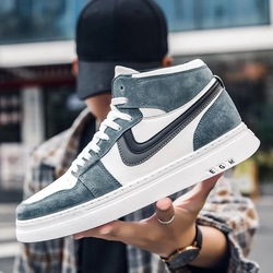 Men's Skateboarding Shoes High Top Leisure Sneakers Breathable Street  Sports Shoes Hip Hop Walking Chaussure Homme