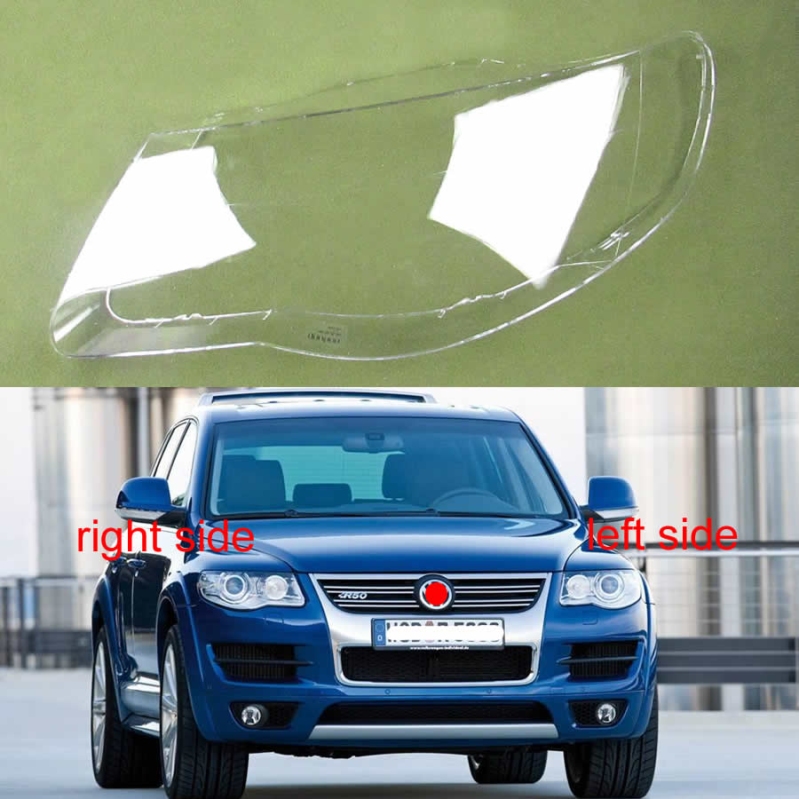 For Volkswagen VW Touareg 2007 2008 2009 2010 Transparent Headlamp Cover Lamp Shade Front Headlight Shell Lampshade Lens Shell