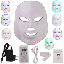 美容光子 LED フェイシャルマスク治療 7 色ライトスキンケア若返りしわにきび除去顔美容スパ