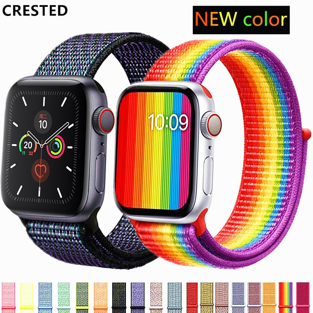 Strap For Apple Watch Band Apple Watch 4 5 3 Band 44mm/40mm Sport Loop Iwatch Band 5 42mm 38mm Correa Pulseira Nylon Watchband