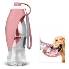 580ml Portable Dog Water Dispenser Sport Bottle Cat Feeding Drinking Cup Outdoor Travel Bowl Stuff