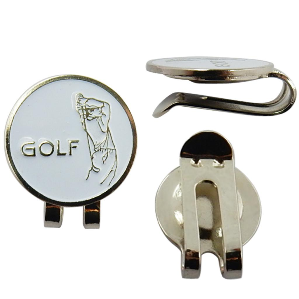 Durable Compact Golfer  Hat Clip Golf Ball Marker For Golf Cap Visor