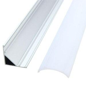 Image 3 - 30/45/50cm U/V/YW Stil Geformt LED Bar Lichter Aluminium Kanal Halter Milch abdeckung Ende Up für LED Streifen Licht Zubehör