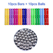 3D DIY Magnetic Designer Blocks Magnet Bar Metal ball magnetic sticks Early Educational Toys For Children Kids Gift 5mm 216pcs buliding educational cube blocks anxiety stress toys gift new year magnet with metal box disc magnet
