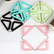 Folding Anti-scalding Coaster High Temperature Insulation Mat Placemat Household Items Stainless Steel Kitchen Pot Mat Silicone