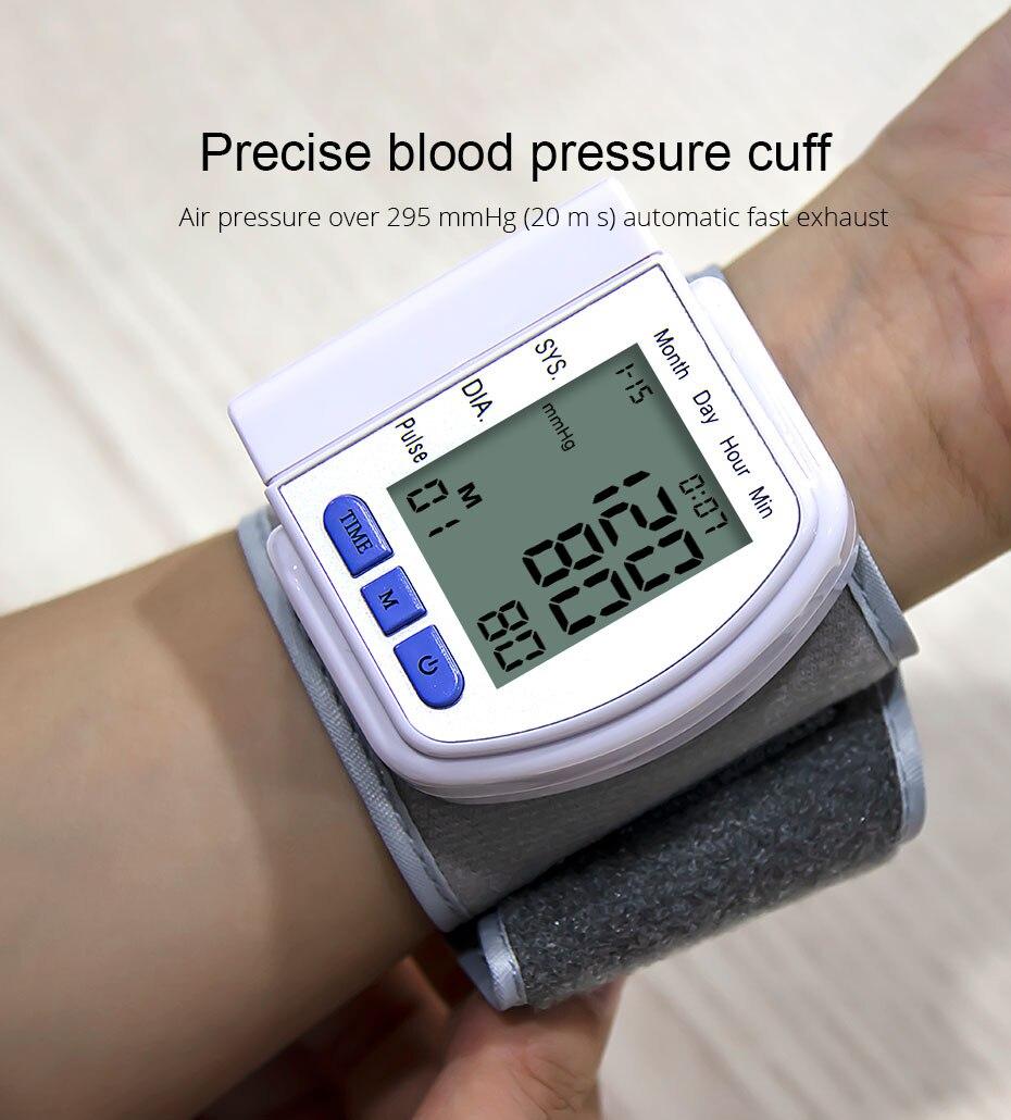 Huishoudelijke Medische Automatische Digitale Pols Bloeddrukmeter Bp Tonometer Pols Bloeddrukmeter Tensiometer tansiyon aleti