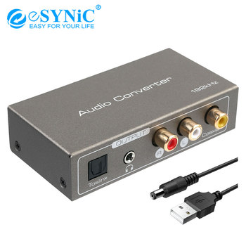 eSYNiC HDMI ARC Audio Converter 192K DAC Digital Analog Audio Converter Toslink Optical Coaxial L/R 3.5mm Jack Extractor Adapter