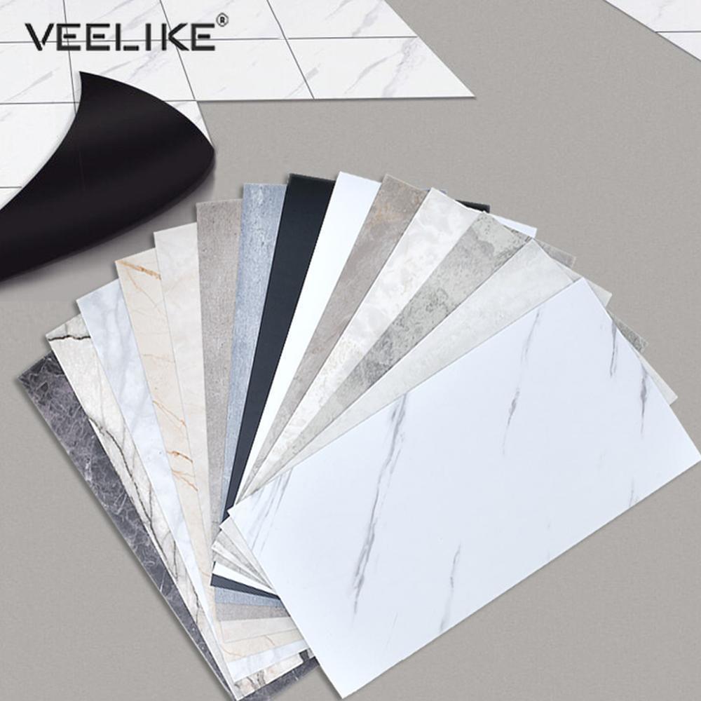 Marble Self Adhesive Ceramic Tile Floor Sticker Waterproof Wallpaper Room Renovation DIY Kitchen Ground Contact Paper Home Decor