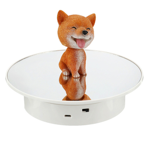 Image 5 - 20cm Electric Rotating Jewelry Display Stand Motorized Rotary Turntable Modeldisplay Stand Base Usb/battery Powered Plastic