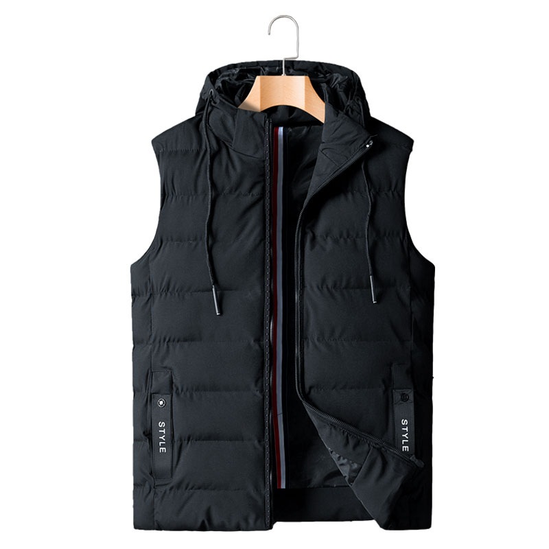 Vest XL-8XL MAX CHEST 148CM Warm Autumn Winter New 2019 Hot Sale Casual Men Vest Loose Waistcoat With Hooded
