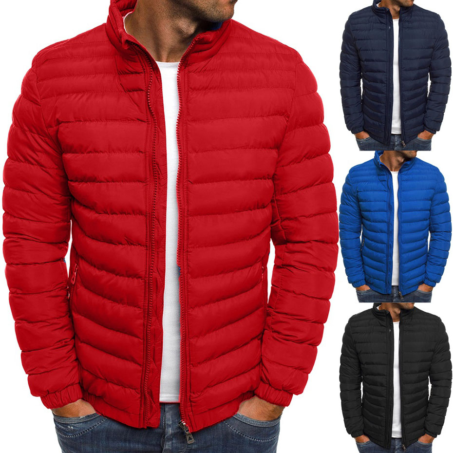 ZOGAA Hot Sale Men Winter Jackets Chest Exquisite Pocket Simple Hem Practical Waterproof Zipper High Quality Parka
