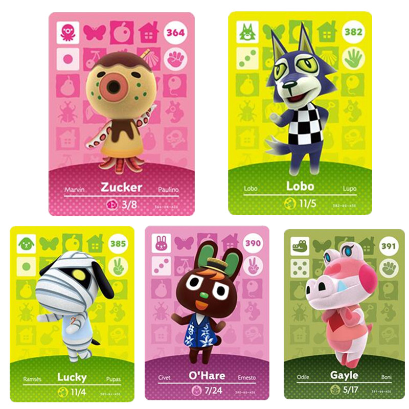 385Lucky NFC Animal Crossing Amiibo Card New Horizons For NS Games Amibo Switch/lite Amiibo Card NFC Welcome Cards Series 4