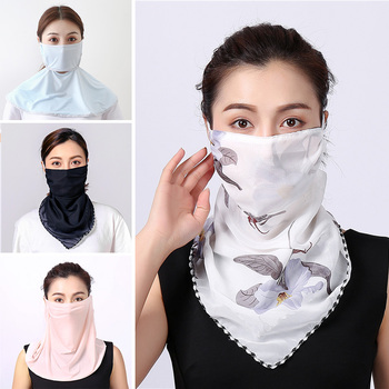New Face Mask Summer Sun Protection Scarf Silk Hair Neck Shawls and Wraps Female Bandana Luxury Brand Scarves Accessories 2020 - discount item  40% OFF Scarves & Wraps