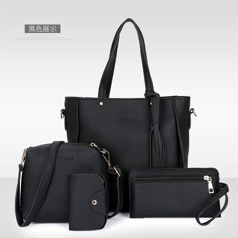 Women Bag Solid Women's Pu Leather Handbags Luxury Lady Hand Bags Purse Pocket Women Messenger Bag Big tote bags for women