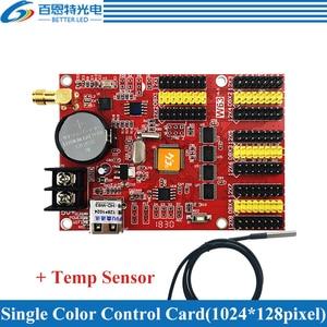 Image 3 - HD W63 usb + wifi 8 * hub12 4 * hub08 단색 (1024*128 픽셀) 및 듀얼 컬러 (512*128 픽셀) led 디스플레이 제어 카드