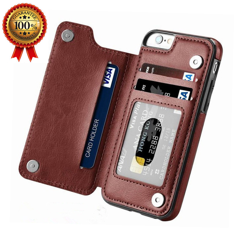 Iphone 11 Pro Max Case With Card Holder | Leather Phone Case For IPhone 11 11Pro 11Pro Max 8 Plus Business Card Holders Retro PU Case For IPhone XS Max XR 6 6s 7 8 XS