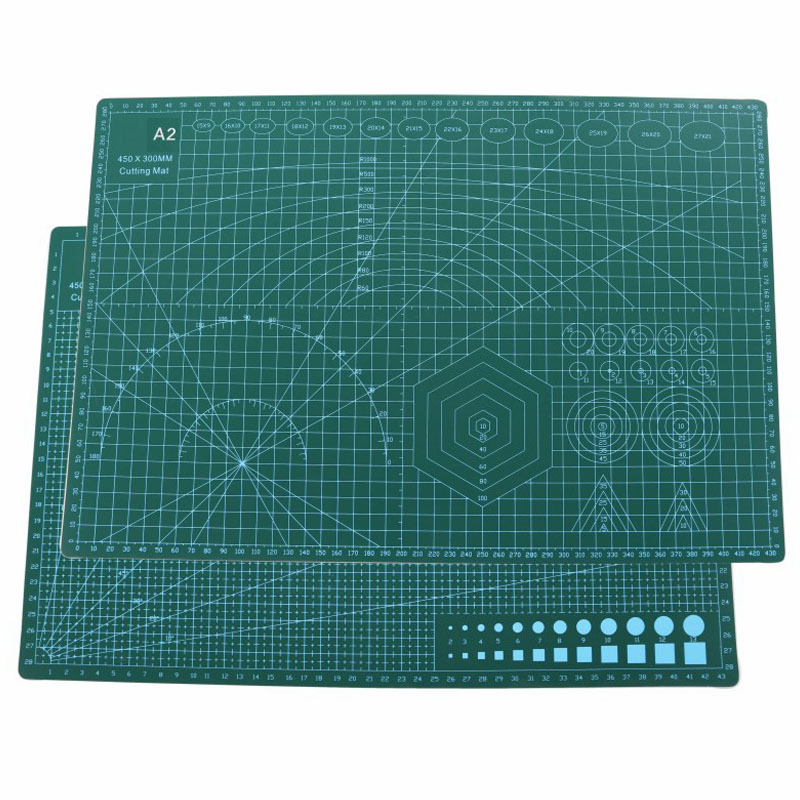 A2 Multifunction PVC Cutting Mat Pad Patchwork Cut Pad Patchwork Tools Manual DIY Tool Cutting Board Double-sided Self-healing