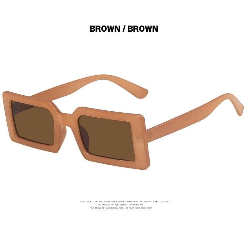 Fashion Sunglasses Designer Luxury Brand Rectangle Sunglasses Women Vintage Small 2021 trend Female Sun Glasses Shades For Women (13)