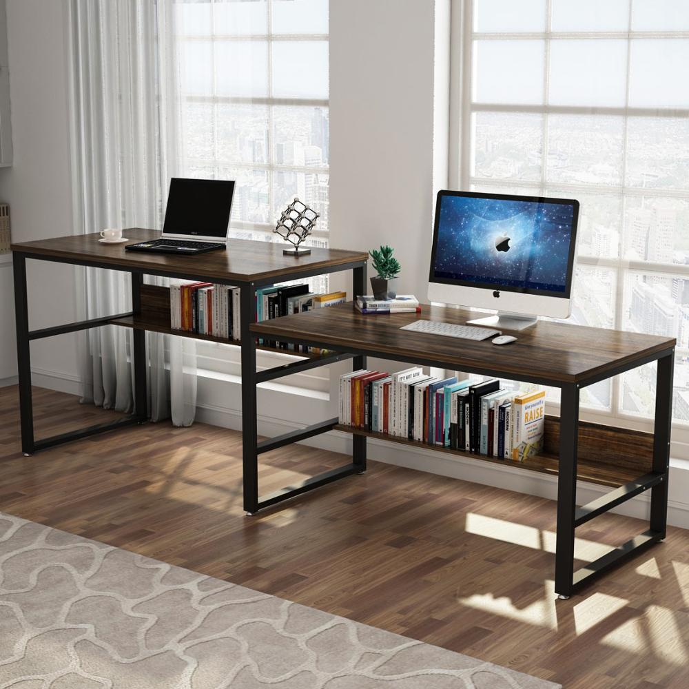 94 48 Inches Two Person Desk Double Computer Desk Sit And Standing Desk For Two Person Simple Writing Office Desk Laptop Desks Aliexpress