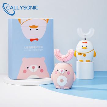 CALLY SONIC Smart 360 Degress U elektryczna soniczna szczoteczka do zębów dla dzieci silikonowa automatyczna Ultra Sonic szczotka do zębów szczoteczka do zębów dla dzieci tanie i dobre opinie CALLYSONIC CN (pochodzenie) ELEKTRYCZNA SZCZOTECZKA DO ZĘBÓW Z falą akustyczną