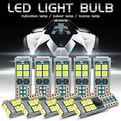 10 pièces T10 LED voiture W5W ampoules voiture intérieur dôme lumière dégagement lumière Non polaire Canbus 10-SMD 168 194 6000K 12V