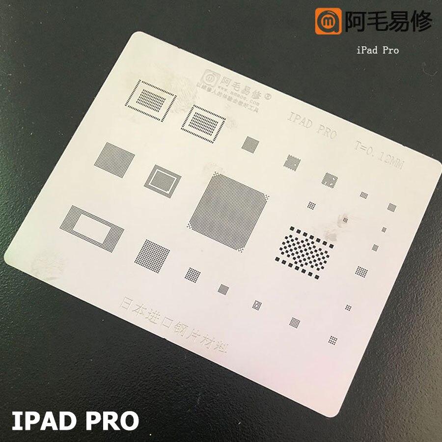 Amaoe BGA Reballing Stencil FOR  iPad 2 3 4 6 Mini 1 4 Pro CPU BGA Reballing Tin Plant Net 4