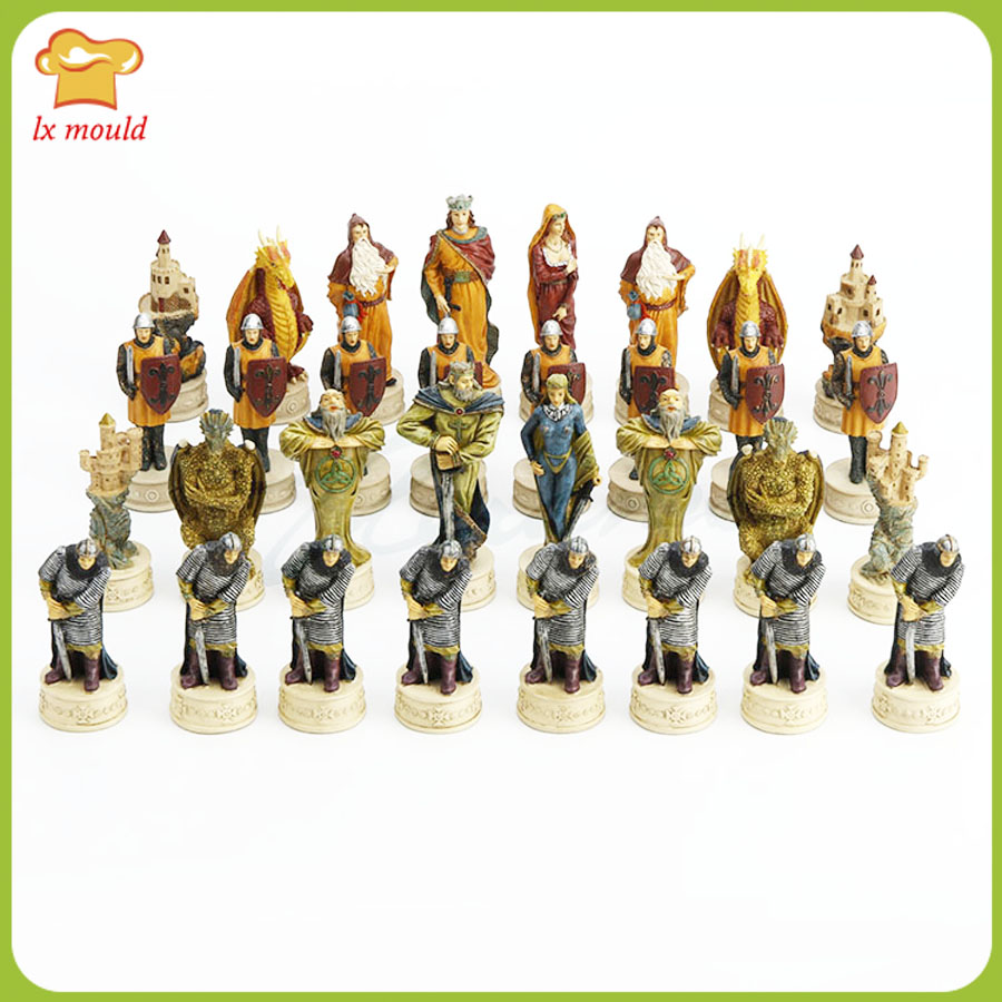 HIGH IMITATION TERRACOTTA ARMY CHESS RARE EXQUISITE WITH ROSE WOOD BOX 32 PIECES