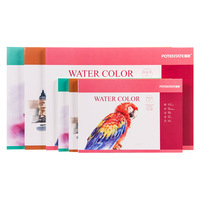 100% Cotton Professional Watercolor Paper 300g/m2 Hand Painted Water soluble Book Creative Office school Art Supplies|  -
