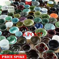 6PCS!!WIZAMONY Jingdezhen Drinkware Random Teapot teapet Tea Cup tea set bowl Ceramic kung fu teacups Chinese Porcelain Celadon