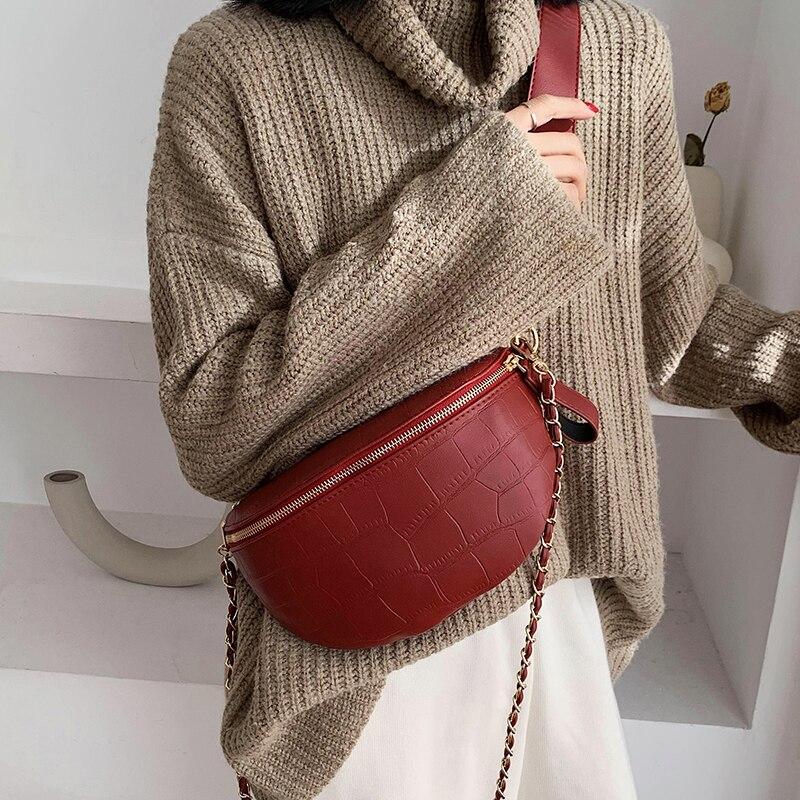 2019 Bolsa Feminina Women Fashion Chest Bag Luxury Handbags Women Bags Designer Suede Leather Shoulder Crossbody Chest HandBag