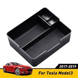 Accoudoir de voiture boîte de rangement pour Tesla modèle 3 accessoires Auto Console centrale organisateur conteneur boîte de support