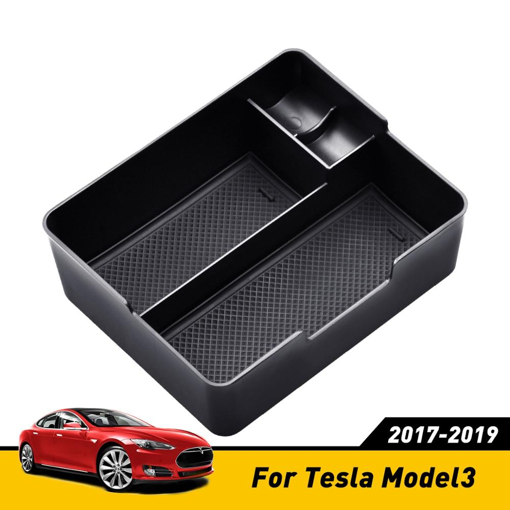 Car Armrest Box Storage For Tesla Model 3 Accessories Auto Center Console Organizer Container Holder Box