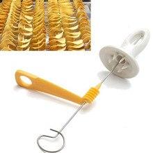 Acessórios de cozinha tornado batata espiral cortador slicer casa batata fazer slicer ferramentas cozinha aço inoxidável batata slicer