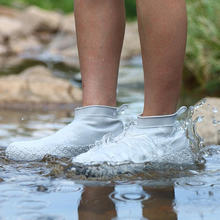 Waterproof Silicone Shoes Cover Women Men Indoor Outdoor Non-slip Portable Rain Boots Resuable Rubber Shoes Protector SH09181(China)