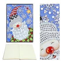 DIY Santa Claus Special Shaped Diamond Painting 60 Pages A5 Office Notebook painting school supplies for students