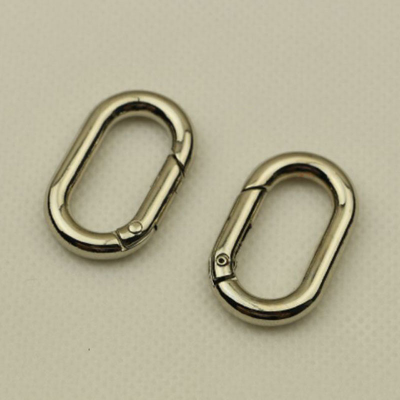 1pcs metal Oval ring snap Hook trigger clasps for bag strap belt charm ornaments