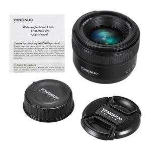 Image 5 - YONGNUO YN35mm F2.0 F2N עדשת YN35mm AF/MF פוקוס עדשה עבור ניקון F הר D7100 D3200 D3300 D3100 D5100 d90 DSLR מצלמה YN35mm עדשה