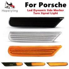 2Pcs LED Dynamische Seite Marker Lichter Blinker Blinker Lampen Für Porsche 911 Carrera Turbo 4 S 4 S targa GT2 GT3 996 Boxster 986
