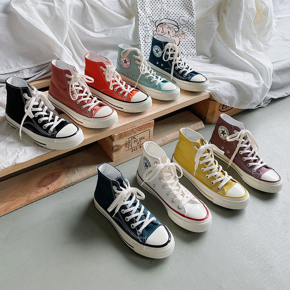 sneakers women shoes converse all star gothic flats trainers shoes for women sneakers vulcanize canvas neon retro lime green