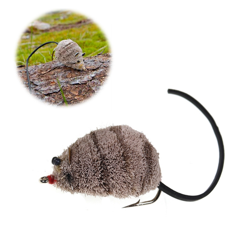 1PCS Vintage Fly Fishing Mouse Shape Bait With Hook Snake Big Trout Fishing Supplies Bait