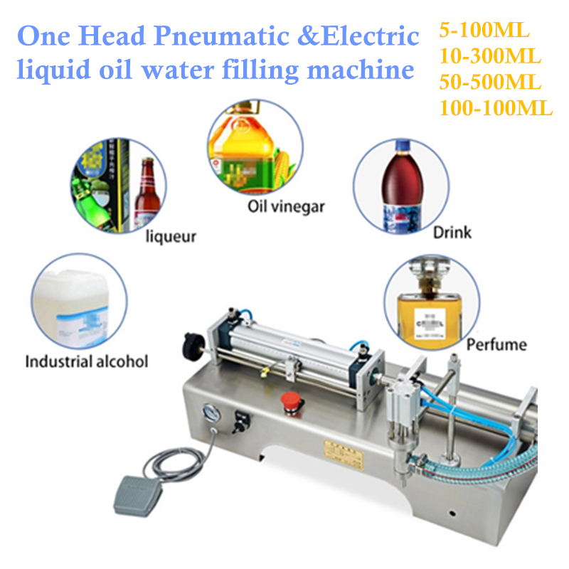 Wholesale Semi Automatic Single One Head Pneumatic Electric Liquid Filling Machine Shampoo,Stainless Steel Bottle Liquid Filler