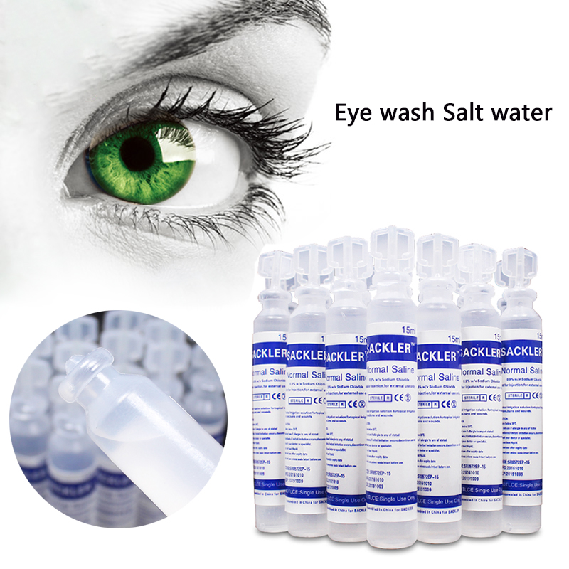 15ml Portable Saline Cleaning Solution Vials Infants Mintron Nasal Congestion Wash Eye Children Scratch Travel Emergency Care