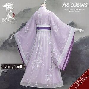 Image 2 - Uwowo TV serisi Mo Dao Zu Shi en olgunlaşmamış Jiang Yanli Cosplay kostüm antik kadın giysisi aksesuarları ile