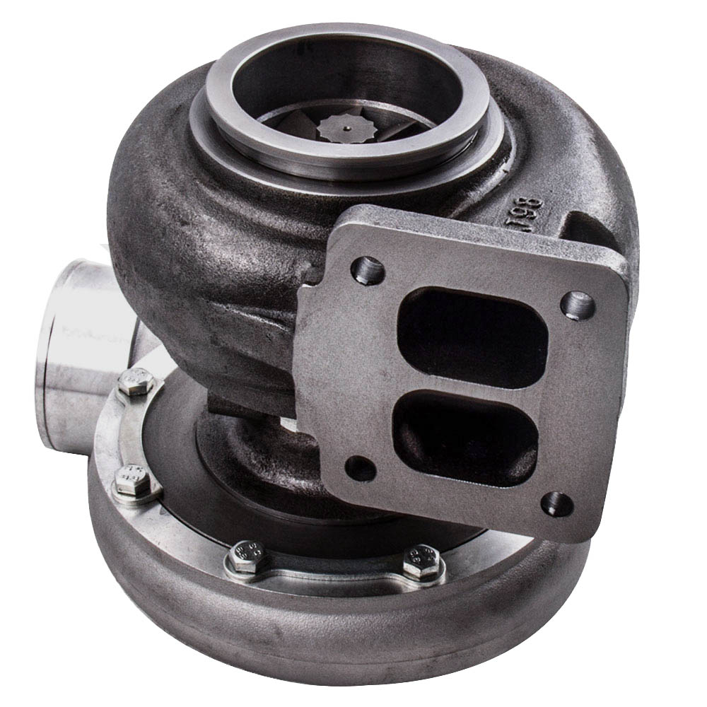 GT45 T4/T66 Racing V Band Turbo Charger + Olie Afvoer Feed & Return Lijn Kits Turbo tot 600 Hp 1.05 A/R 98 Mm - 5